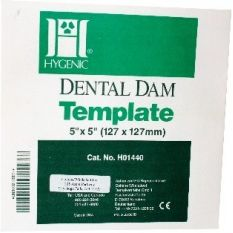 Sablon diga Dental Dam Template