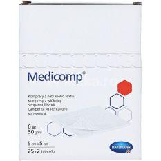 Medicomp comprese sterile din netesut 5×5 cm