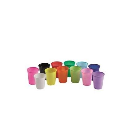 Set pahare colorate Euronda 100 buc